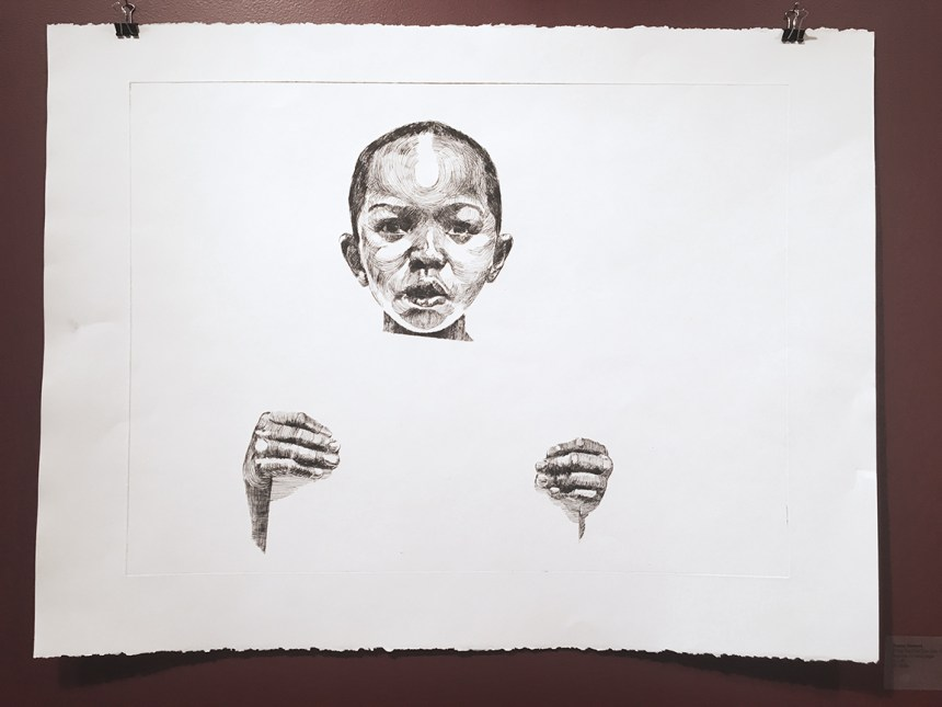 """Darius Steward, If You too Cool You Lose #1, Drypoint on wove paper, 30"""" x 22"""""""