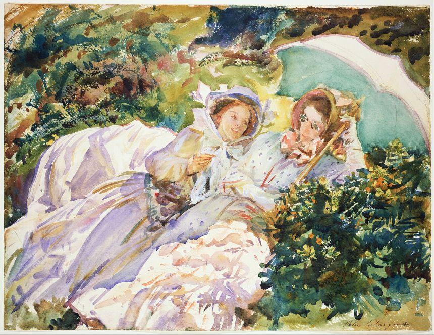 John Singer Sargent, Simplon Pass: The Tease, 1911, watercolor, MFA Boston