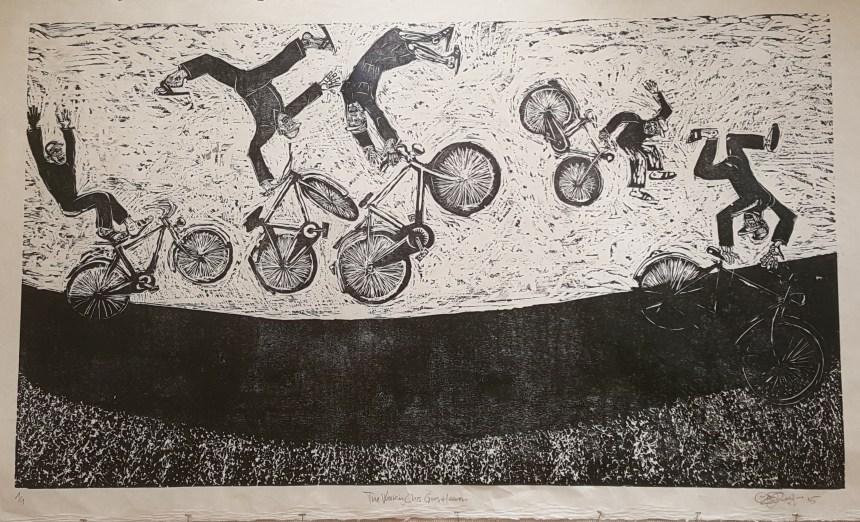 Claudio Orso, The Working Class Goes to Heaven, woodcut print