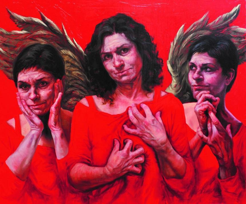 Judy Takács, Guardian Angel of the Good Death, oil on linen