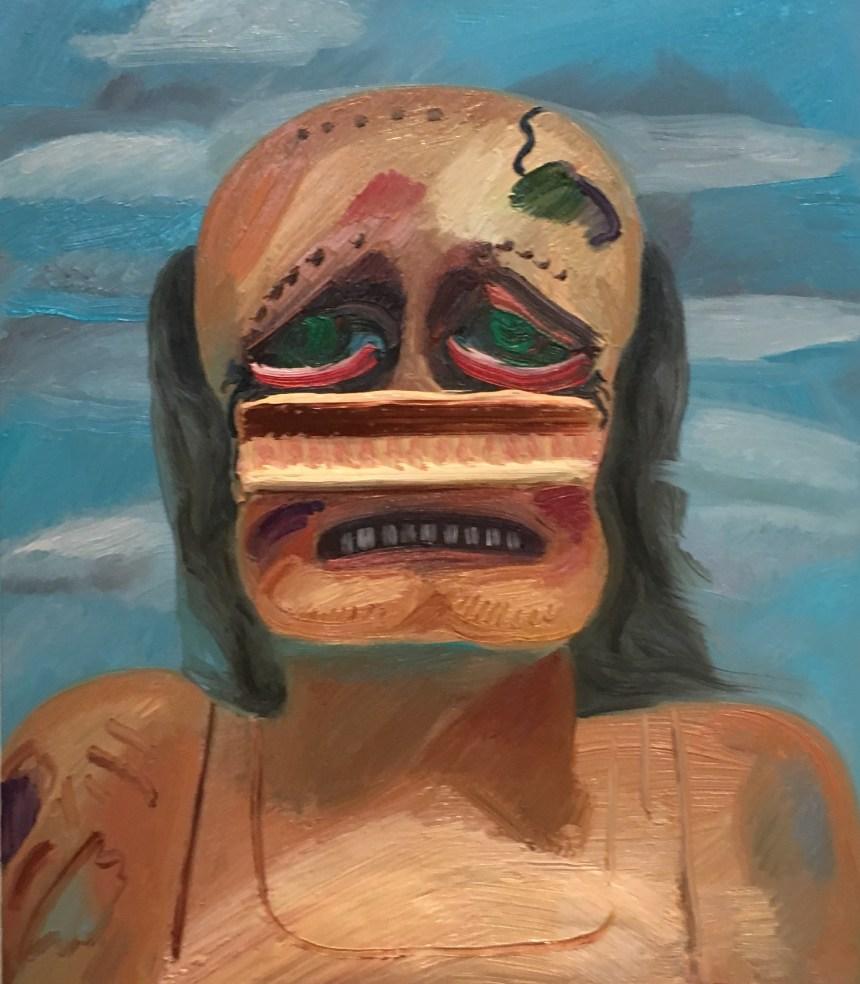 Bat, 2018. Dana Schutz (American, born 1976). Oil on canvas. 30.5 x 26 inches. © Dana Schutz, courtesy of Petzel Gallery, New York and Contemporary Fine Arts, Berlin