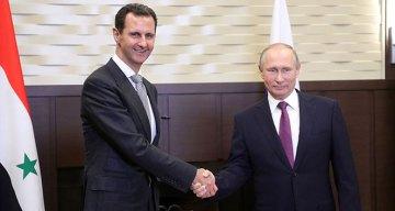 Putin ile Esad ateşkes anlaşmasını görüştü