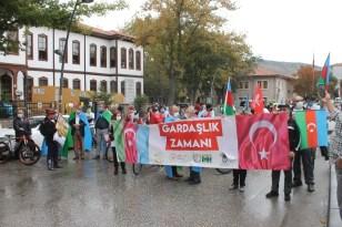 Azerbaycan'a destek için pedal çevirdiler