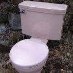 A toilet outside