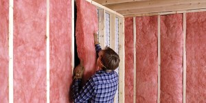 Batten insulation in Canmore.