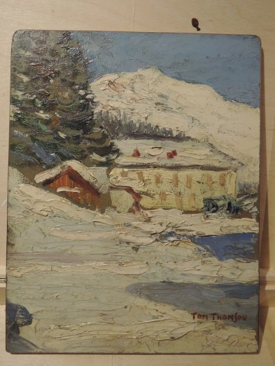 A sketch painting by believed to be made by Canadian artist Tom Thomson of the Oskaloosa Hotel and Whiteman's Gap. Courtesy Thom Gianetto.