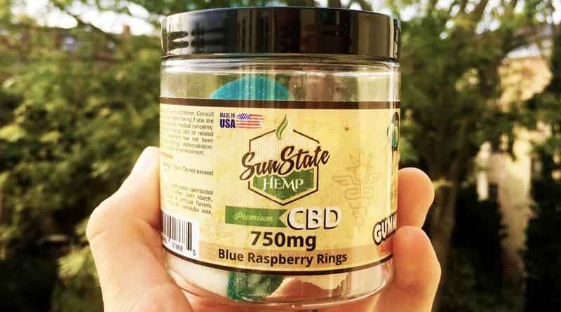 Sun State Hemp CBD blue raspberry Rings