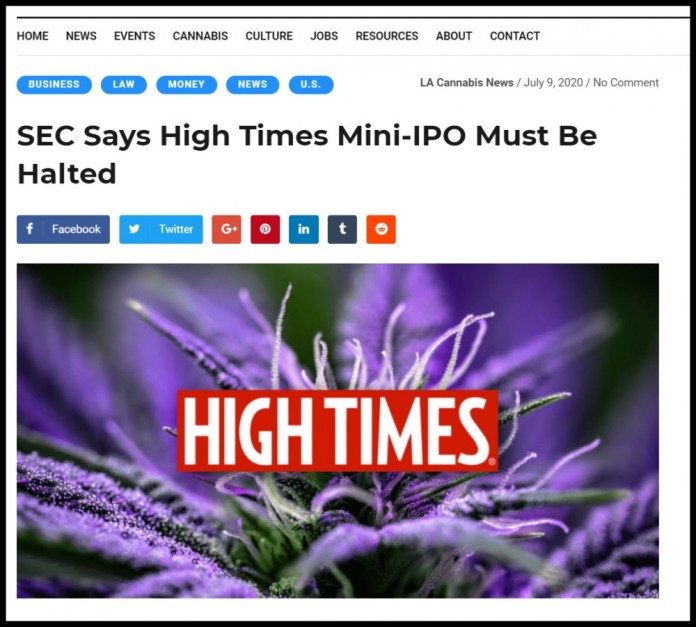 sec shuts down high times