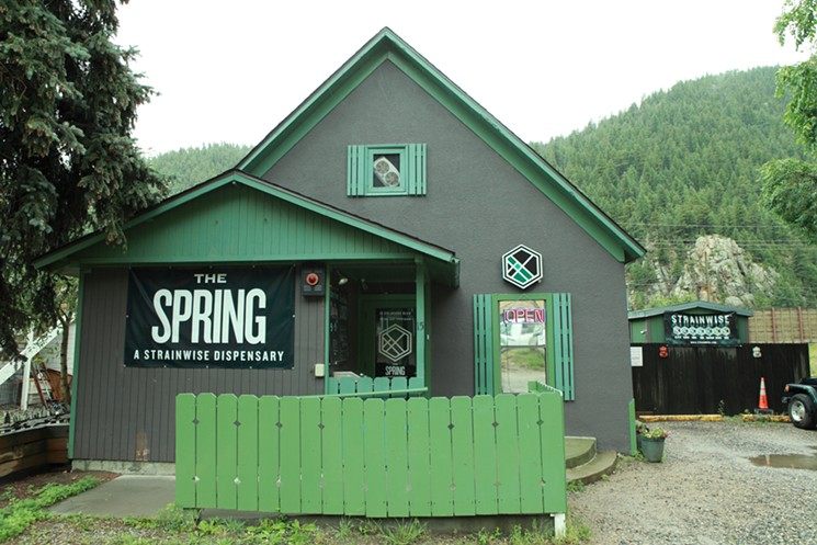 Strainwise's old Idaho Springs outpost is now a Bonfire Cannabis dispensary.