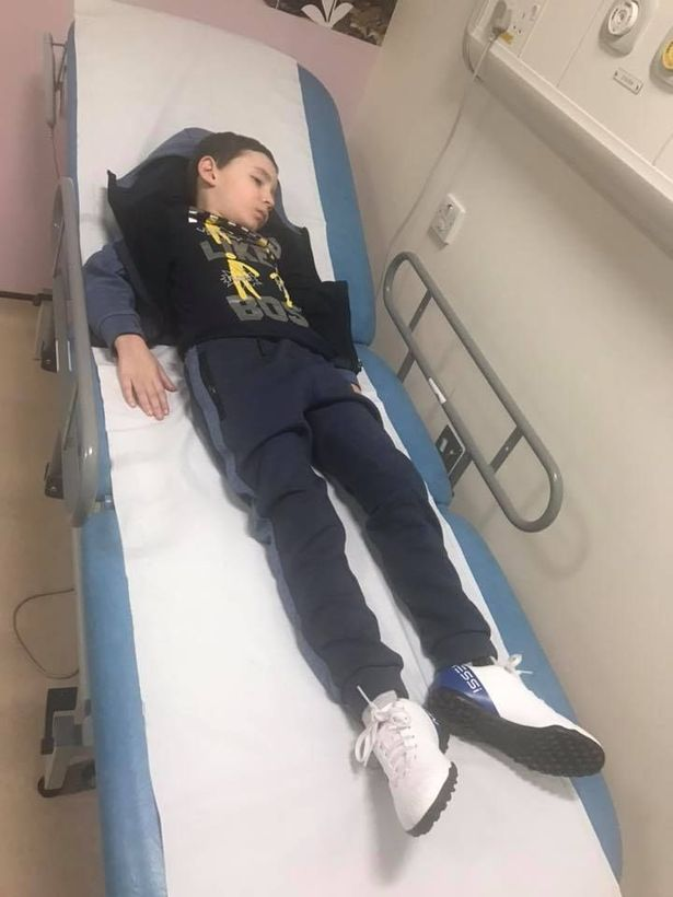 Cole recovering in hospital after collapsing from a seizure while on his way to collect his medical cannabis treatment.