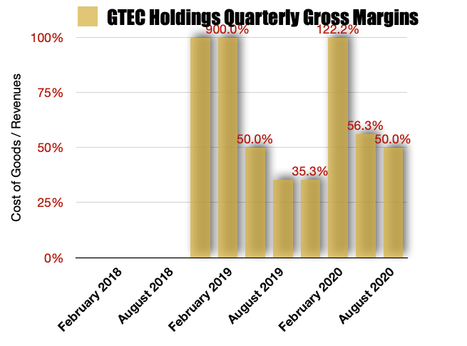GTEC Holdings Gross Margins