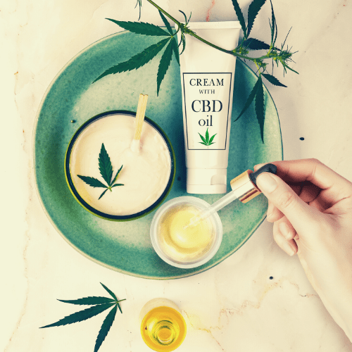 CBD infused cosmetics to nourish skin