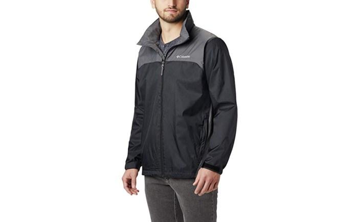 Men's Glennaker Lake Rain Jacket with Hideaway Hood by Columbia