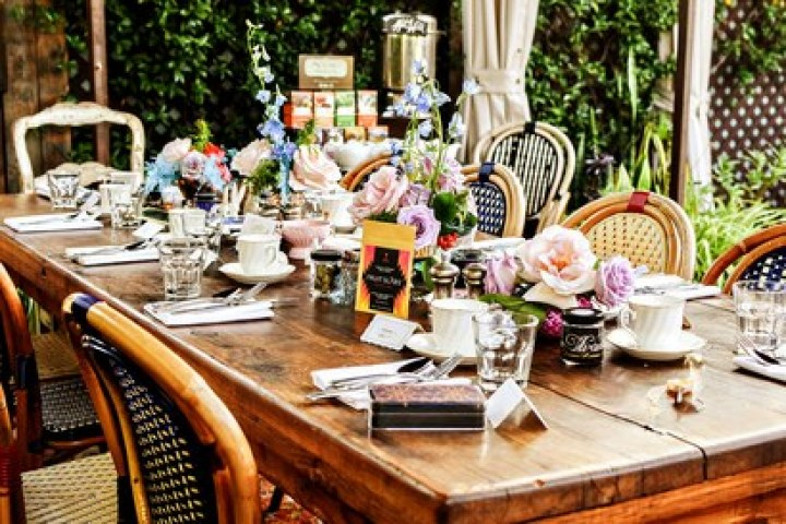 The table set for tea