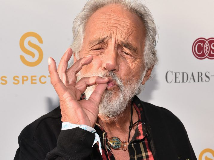 All Tommy Chong wants for Christmas is… a drill press to make weed pipes