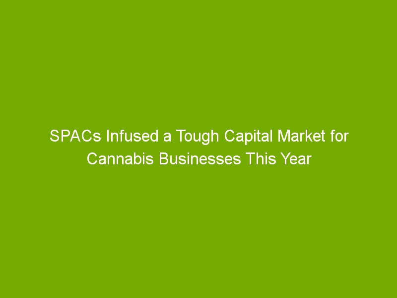 SPACs Infused a Tough Capital Market for Cannabis Businesses This Year