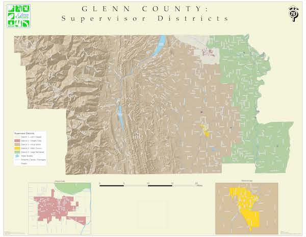 Board of Supervisors District Map of Glenn County