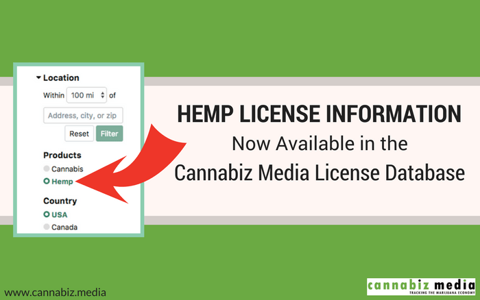 Hemp License Information Now Available in the Cannabiz Media License Database