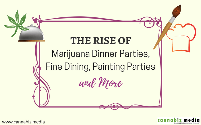 The Rise of Marijuana Dinner Parties, Fine Dining, Painting Parties and More