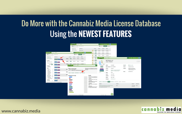 Do More with the Cannabiz Media License Database Using the Newest Features