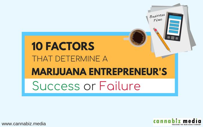 10 Factors that Determine a Marijuana Entrepreneur's Success or Failure