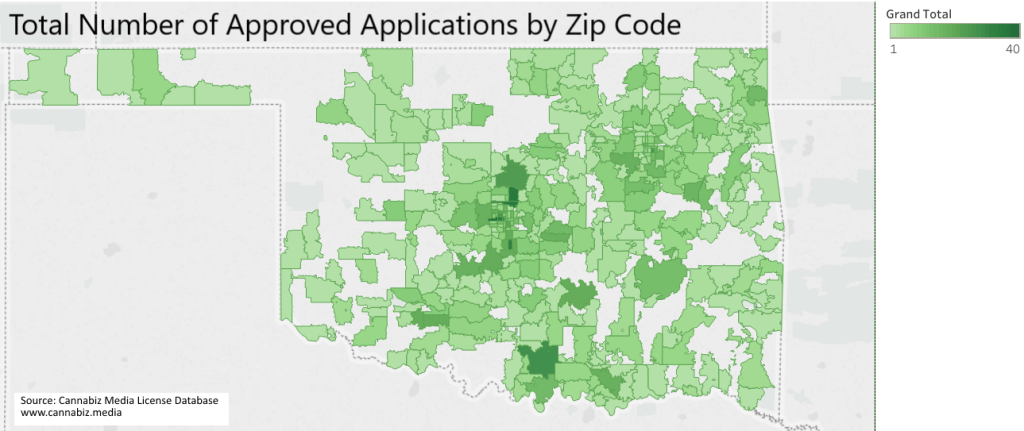 OK approved apps by zip