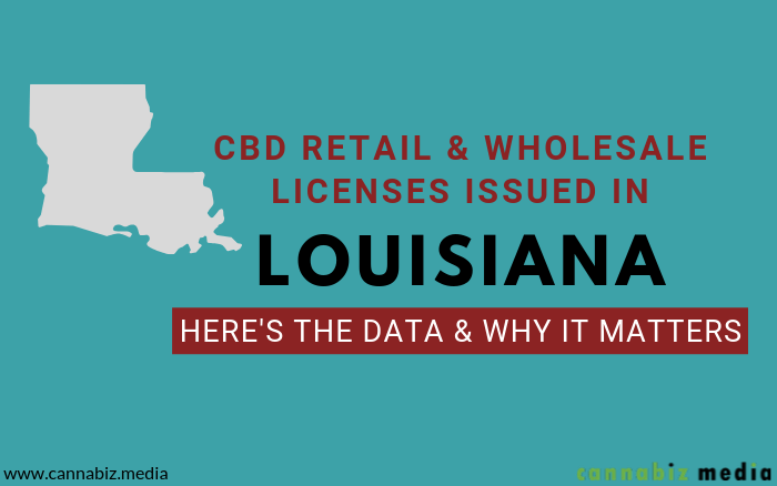 CBD Retail and Wholesale Licenses Issued in Louisiana – Here's the Data and Why It Matters