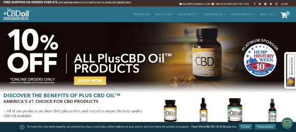 Screenshot 2019 06 09 Plus CBD Oil™ Americas 1 Choice for CBD Products - CV Sciences