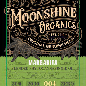 Moonshine Organics Craft Cocktail Collection Margarita Label