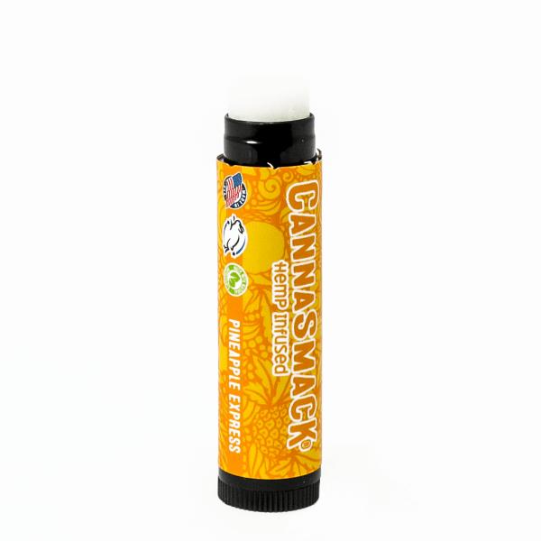 cannasmack natural hemp lip balm pineapple express