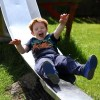 Little boy called Murray enjoyed a slide