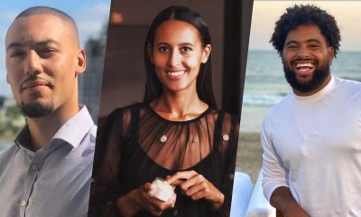 Three images of black CBD business owners aligned side by side