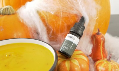 pumpkin soup with CBD oil drops
