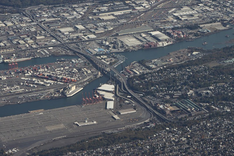 west seattle bridge arial view
