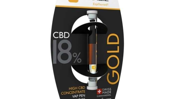 "Cannaliz ""GOLD"" Vape Pen Cartidge 0.5 [ml] 18% CBD"
