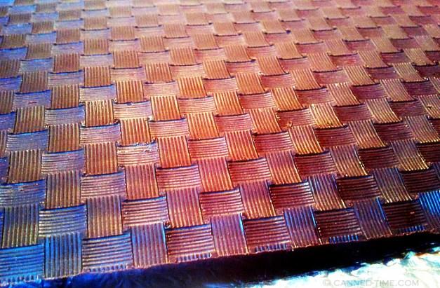 woven plastic pattern chocolate mold