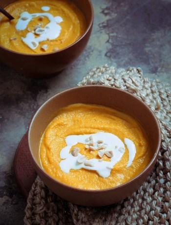 Recette de soupe carotte façon thaï