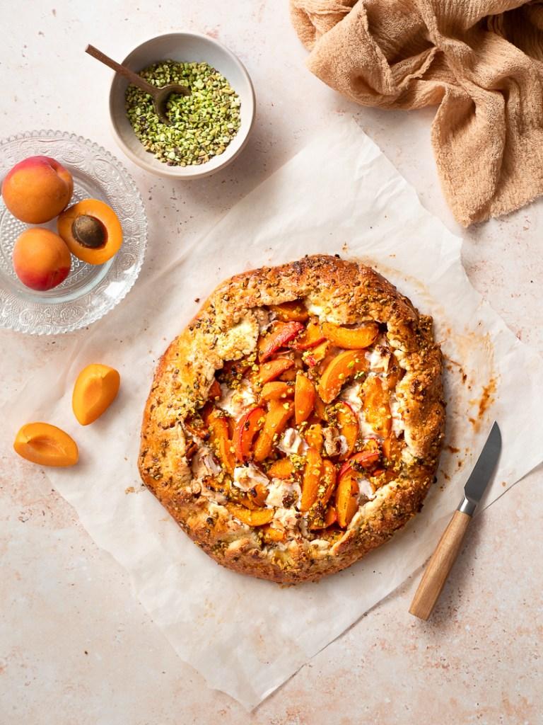 tarte aux abricots et pistache