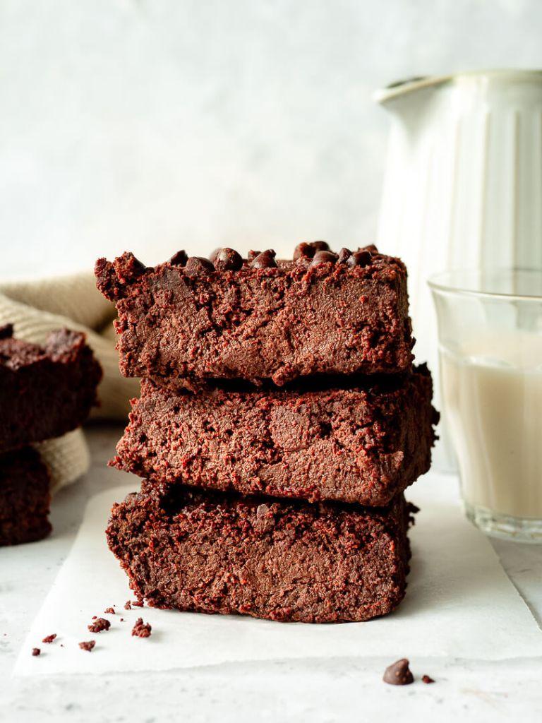 pile de parts de brownie