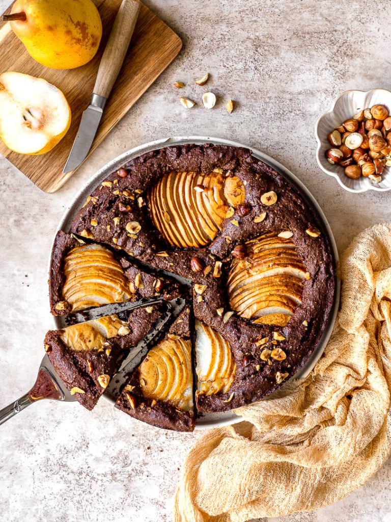 gâteau poire chocolat noisettes