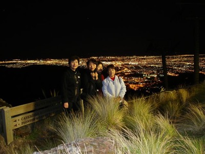 View from Port Hills on Christchurch Night Tour