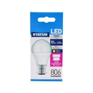 10w = 60w Bayonet Cap LED Light Bulb