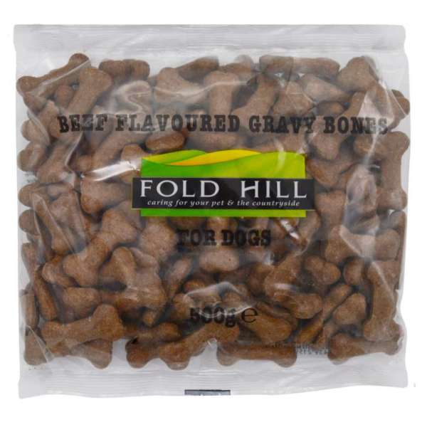 Dog Treats 500g - Beef flavoured gravy bones