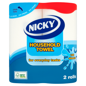 Nicky Household Towel 120 Sheets 2 Rolls