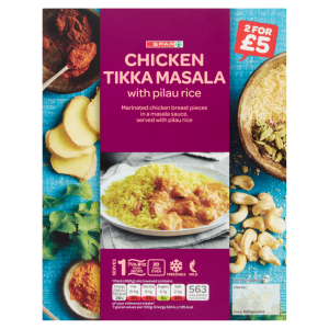 Spar Chicken Tikka Masala with Pilau Rice 450g