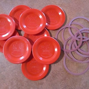 Red Regulare Mouth Canning Lid