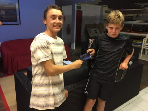 Tuesday 5th January 2016 - Club Night tonights photo shows club member Tim Hyde presenting Luke with a movie voucher