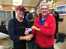 Tuesday 29th May 2018 : Tonight's photo shows Dave Griffiths presenting Simon O'Sullivan with a movie voucher