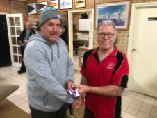 Tues 12th June 2018 : Tonight's photo shows club member David Gardiner presenting Steve Mitchinson with a movie voucher.