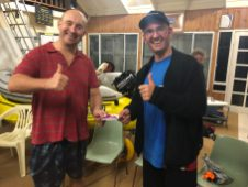 Tuesday 24th July 2018 : Tonight's photo shows Chris Sawicki presenting Mike Galanty with a movie voucher